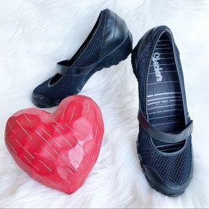 Skechers Black Shoes Sneakers Mesh Leather Strap 8